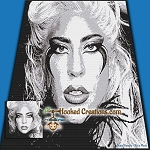 Lady Gaga SC (Single Crochet) Throw Blanket Graphghan Crochet Pattern - PDF Download