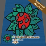 Ladybug SC (Single Crochet) Baby Blanket Graphghan Crochet Pattern - PDF Download