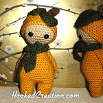 Lil Pumpkin Crochet Pattern - Amigurumi - PDF Download