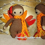 Lil Turkey Crochet Pattern - Amigurumi - PDF Download