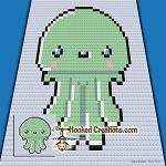 Lil Octi C2C (Corner to Corner) Baby Blanket Graphghan Crochet Pattern - PDF Download