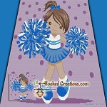 Little Cheerleader SC (Single Crochet) Throw Blanket Graphghan Crochet Pattern - PDF Download