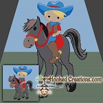 Little Cowboy SC (Single Crochet) Throw Blanket Graphghan Crochet Pattern - PDF Download