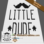 Little Dude C2C (Corner to Corner) Baby Blanket Graphghan Crochet Pattern
