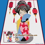 Little Geisha Girl SC (Single Crochet) Throw Blanket Graphghan Crochet Pattern - PDF Download