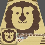 Little Lion SC (Single Crochet) Baby Blanket Graphghan Crochet Pattern - PDF Download