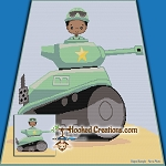 Little Tank Soldier SC (Single Crochet) Throw Blanket Graphghan Crochet Pattern - PDF Download