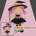 Little Witch SC (Single Crochet) Throw Blanket Graphghan Crochet Pattern