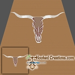 Longhorn Skull SC (Single Crochet) Throw Blanket Crochet Pattern