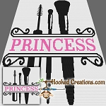Make-up Princess SC (Single Crochet) Throw Blanket Graphghan Crochet Pattern - PDF Download