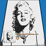 Marilyn SC (Single Crochet) Throw Blanket Graphghan Crochet Pattern - PDF Download