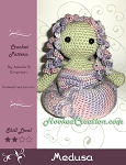 Medusa Crochet Pattern - Amigurumi - PDF Download