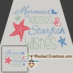 Mermaid Kisses SC (Single Crochet) Throw Size Blanket Graphghan Crochet Pattern - PDF Download