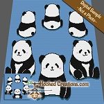Merry Go Panda SC (Single Crochet) Throw Blanket Graphghan Crochet Pattern
