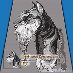 Miniature Schnauzer SC (Single Crochet) Throw Blanket Graphghan Crochet Pattern - PDF Download
