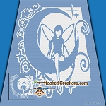 Moon Lite Fairy SC (Single Crochet) Throw Blanket Graphghan Crochet Pattern - PDF Download