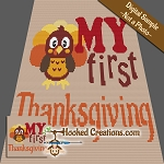 My First Thanksgiving TSS (Tunisian Simple Stitch) Right Handed Baby Blanket Graphghan Crochet Pattern - PDF Download