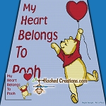 My Heart Belongs To Pooh SC (Single Crochet) Throw Blanket Graphghan Crochet Pattern - PDF Download
