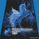 Night Spirit SC (Single Crochet) Throw Blanket Graphghan Crochet Pattern - PDF Download