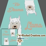 No Drama Llama SC (Single Crochet) Throw Blanket Graphghan Crochet Pattern
