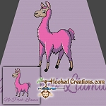 No Prob-Llama SC (Single Crochet) Throw Blanket Graphghan Crochet Pattern - PDF Download