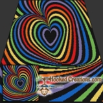 Optical Rainbow Heart SC (Single Crochet) Throw Blanket Graphghan Crochet Pattern - PDF Download