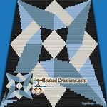 Overlay C2C (Corner to corner) Throw Blanket Graphghan Crochet Pattern - PDF Download
