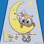 Owl Be On the Moon SC (Single Crochet) Throw Blanket Graphghan Crochet Pattern - PDF Download