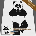Panda Yoga SC (Single Crochet) Throw Blanket Graphghan Crochet Pattern - PDF Download