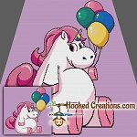 Party Time Unicorn SC (Single Crochet) Throw Blanket Graphghan Crochet Pattern - PDF Download