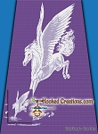 Pegasus SC (Single Crochet) Twin Sized Blanket Graphghan Crochet Pattern - PDF Download