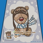 Pilot Teddy SC (Single Crochet) Throw Blanket Graphghan Crochet Pattern - PDF Download