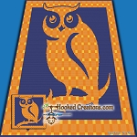 Plaid Owl SC (Single Crochet) Throw Blanket Graphghan Crochet Pattern - PDF Download