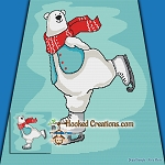 Polar Bear Ice Dance SC (Single Crochet) Throw Blanket Graphghan Crochet Pattern - PDF Download