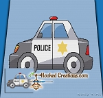 Police Car C2C (Corner to Corner) Throw Blanket Graphghan Crochet Pattern