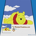Pooh in the Clouds SC (Single Crochet) Throw Blanket Graphghan Crochet Pattern - PDF Download