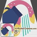 Pop Art Aquarius SC (Single Crochet) Throw Blanket Graphghan Crochet Pattern