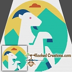 Pop Art Capricorn SC (Single Crochet) Throw Blanket Graphghan Crochet Pattern - PDF Download