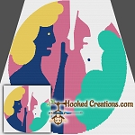 Pop Art Gemini SC (Single Crochet) Throw Blanket Graphghan Crochet Pattern - PDF Download