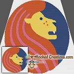Pop Art Leo SC (Single Crochet) Throw Blanket Graphghan Crochet Pattern
