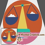 Pop Art Libra SC (Single Crochet) Throw Blanket Graphghan Crochet Pattern