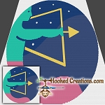 Pop Art Sagittarius SC (Single Crochet) Throw Blanket Graphghan Crochet Pattern - PDF Download