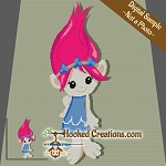 Pretty Troll SC (Single Crochet) Throw Blanket Graphghan Crochet Pattern - PDF Download