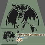 Proud Buck SC (Single Crochet) Throw Blanket Graphghan Crochet Pattern - PDF Download