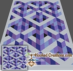 Puzzled Mind TSS (Tunisian Simple Stitch) -Right Handed Throw Sized Blanket Graphghan Crochet Pattern - PDF Download
