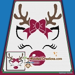 Ragdoll Reindeer SC (Single Crochet) Throw Blanket Graphghan Crochet Pattern - PDF Download