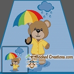 Rainy Day Teddy SC (Single Crochet) Throw Blanket Graphghan Crochet Pattern