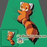 Red Panda SC (Single Crochet) Throw Blanket Graphghan Crochet Pattern