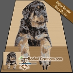 Rottweiler Puppy SC (Single Crochet) Throw Blanket Graphghan Crochet Pattern - PDF Download