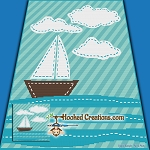 Row The Boat SC (Single Crochet) Throw Blanket Graphghan Crochet Pattern - PDF Download